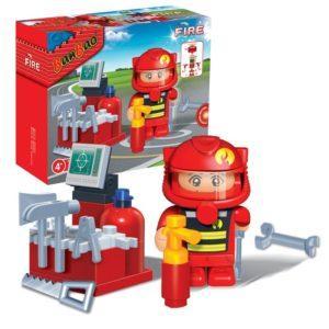 Конструктор - Пожарный, 25 деталей
