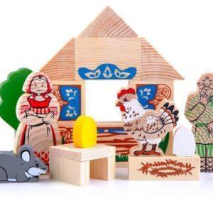 Конструктор деревянный «Сказки: Курочка Ряба» (арт. 4534-1)