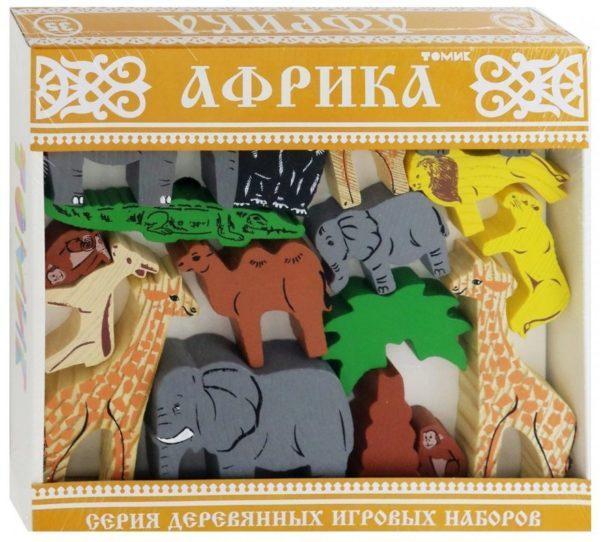Конструктор деревянный «Африка» (35 деталей, арт. 7678-4)