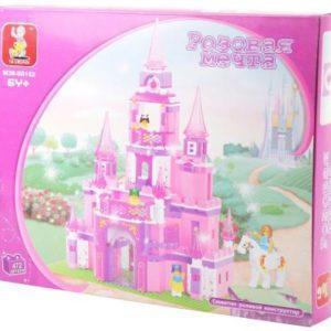 "Конструктор SLUBAN ""Розовая мечта"" - Замок принцессы 472 элемента M38-B0152R"