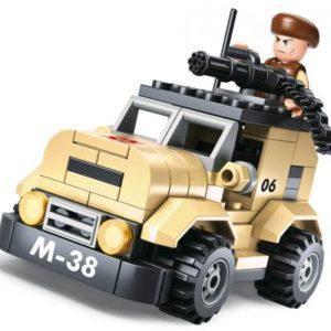 Конструктор SLUBAN Патрульный автомобиль М-38 102 элемента M38-B0587A