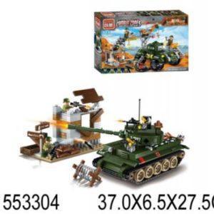 Конструктор ENLIGHTEN BRICK Военная база с танком 396 элементов 1712