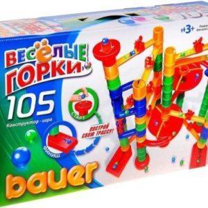 Конструктор «Весёлые горки» (Bauer, 105 элементов)