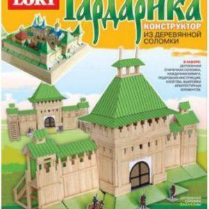 Конструктор из деревянной соломки «Городские ворота древней крепости» (арт. Сп-011)
