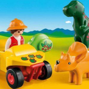 Игровой набор – 1.2.3: Исследователь с динозаврами