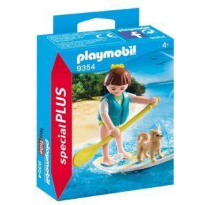 Конструктор Playmobil «Серфингистка с собачкой на доске» (арт. 9354)