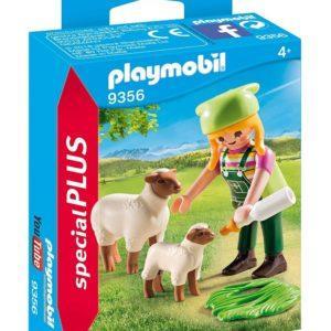 Конструктор Playmobil «Девушка-фермер с овечкой и ягнёнком» (арт. 9356)