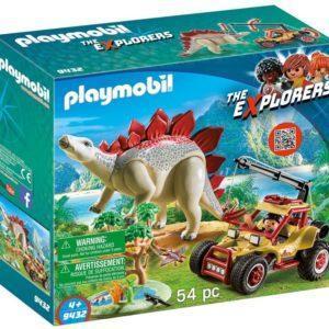 Игровой набор Playmobil «Динозавры: Исследовательский транспорт со Стегозавром» (арт. 9432)