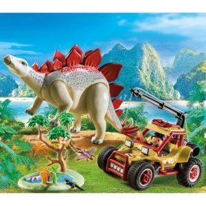Игровой набор – Динозавры: Исследовательский транспорт со Стегозавром