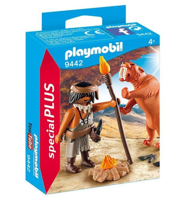Конструктор Playmobil «Пещерный человек с саблезубым тигром» (арт. 9442)