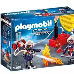 Игровой набор Playmobil «Пожарная служба: Пожарные с водяным насосом» (арт. 9468)