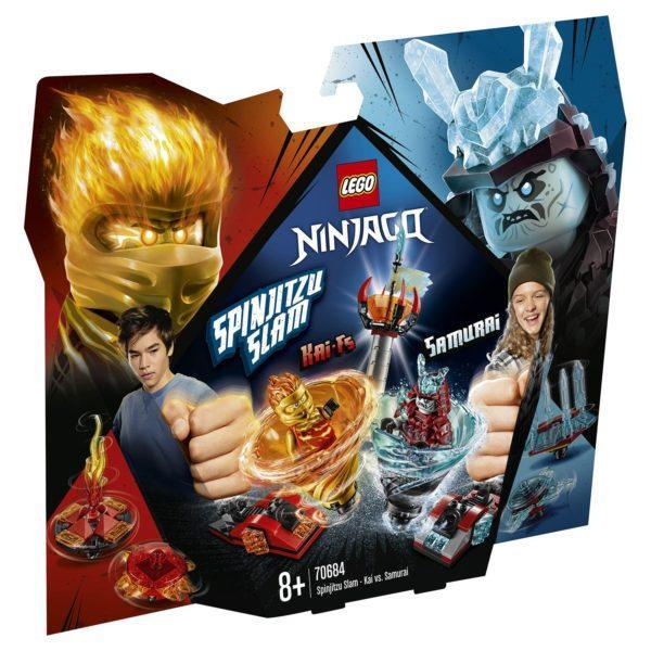Конструктор LEGO Ninjago (арт. 70684) «Бой мастеров кружитцу — Кай против Самурая»