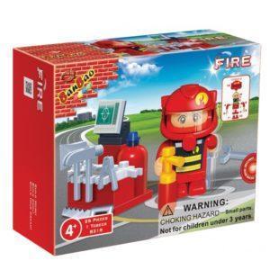 Конструктор BanBao «Пожарный с аксессуарами» (25 деталей, арт. 8318)