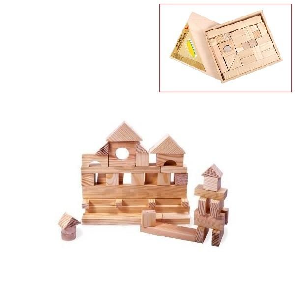 Деревянный конструктор, 35 деталей, неокрашенный