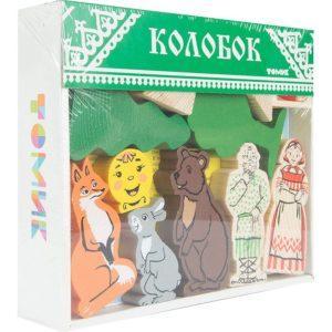 Деревянный конструктор Томик Колобок