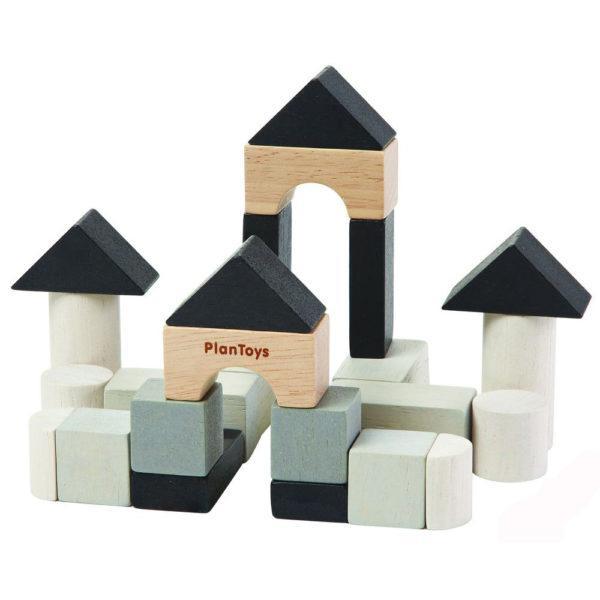 Деревянный мини конструктор, 24 элемента