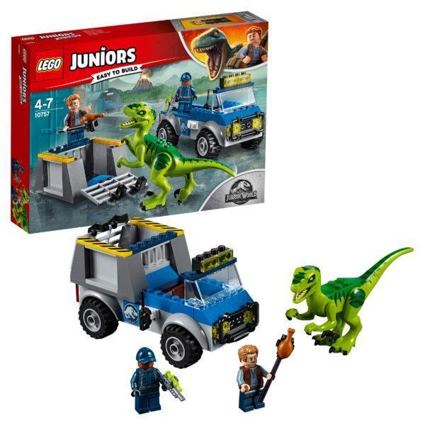 Конструктор LEGO Juniors (арт. 10757) «Грузовик спасателей для перевозки раптора»
