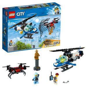 Конструктор LEGO City (арт. 60207) «Воздушная полиция: погоня дронов»