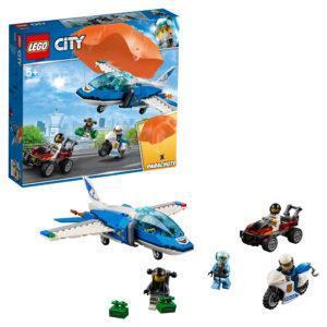 Конструктор LEGO City (арт. 60208) «Воздушная полиция: арест парашютиста»
