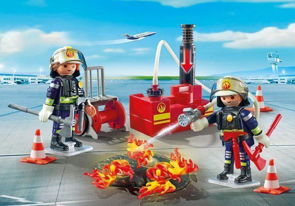 Игровой набор - Городской Аэропорт: Операция по тушению пожара с водяным насосом