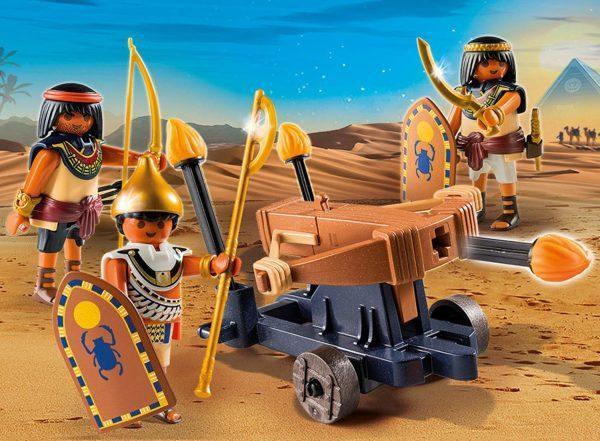 Игровой набор из серии Римляне и Египтяне: Египетский солдат с Баллистой
