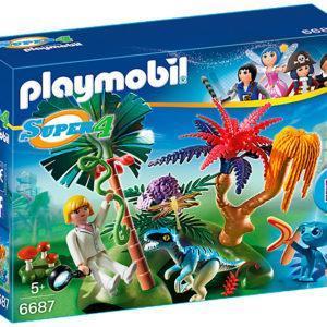 Игровой набор из серии Супер 4 - Затерянный остров с Алиен и Хищником