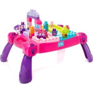 Игровой набор Mega Bloks «Стол для конструирования розовый» (30 деталей, арт. FFG22)