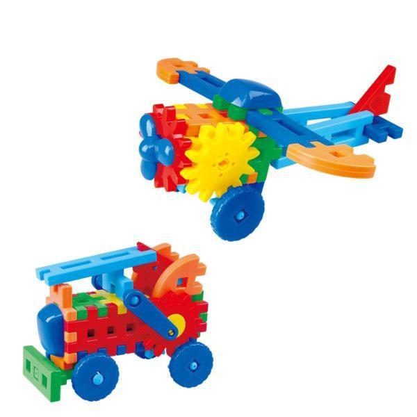 Игровой набор PlayGo «Маленький инженер: Самолёт и пожарная машина» (62 детали, арт. 9610)