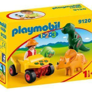 Игровой набор Playmobil «1.2.3: Исследователь с динозаврами» (арт. 9120)
