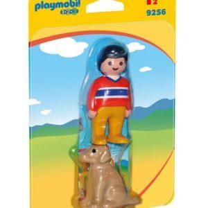Игровой набор Playmobil «1.2.3.: Мальчик с собачкой»(арт. 9256)
