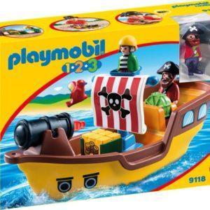 Игровой набор Playmobil «1.2.3.: Пиратский корабль» (арт. 9118)