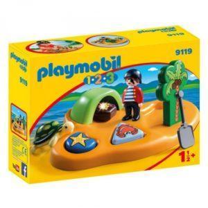 Игровой набор  Playmobil «1.2.3.: Пиратский остров» (арт. 9119)