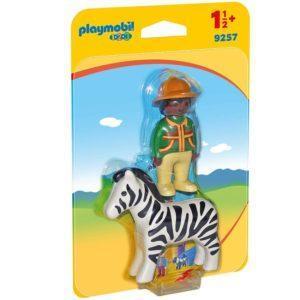 Игровой набор Playmobil «1.2.3.: Следопыт с зеброй» (арт. 9257)