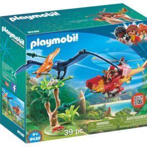 Игровой набор Playmobil «Динозавры: Вертолёт для приключений с птеродактилем» (арт. 9430)