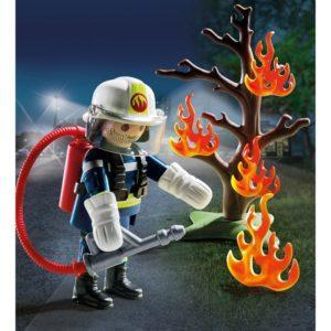 Игровой набор Playmobil «Экстра-набор: Пожарник с деревом» (арт. 9093)
