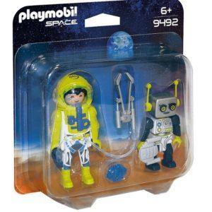 Игровой набор Playmobil «Космос: Астронавт и робот» (арт. 9492)