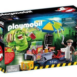 Игровой набор Playmobil «Охотники за привидениями: Лизун и торговая тележка с хот-догами» (арт. 9222)