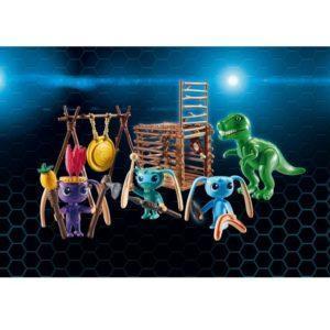 Игровой набор – Супер 4: Инопланетный воин с Т-рекс ловушкой