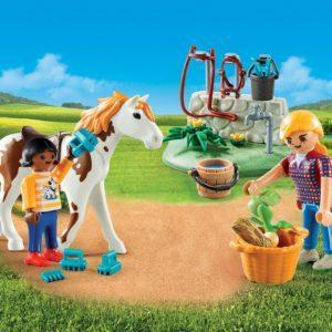 Игровой набор «Возьми с собой: Стрижка лошадей» (Playmobil)