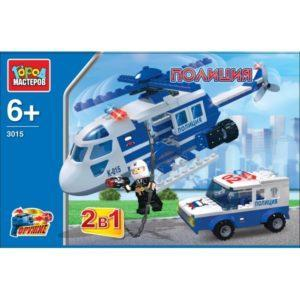 Конструктор – 2 в 1 Полиция: Вертолет с машиной