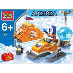 Конструктор «Арктика: Полярник на снегоходе» (132 детали, арт. 2504)