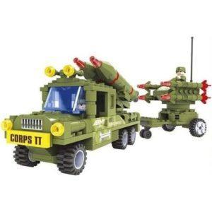 Конструктор «Армия: Пусковая установка и военный грузовик»