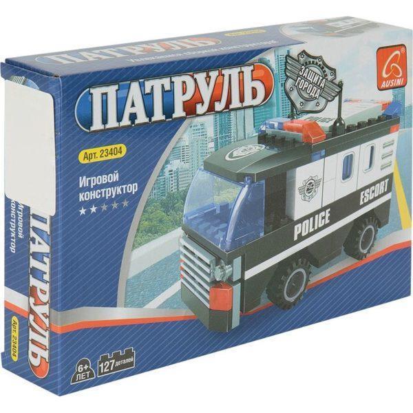 Конструктор Ausini Патруль Полицейский автобус