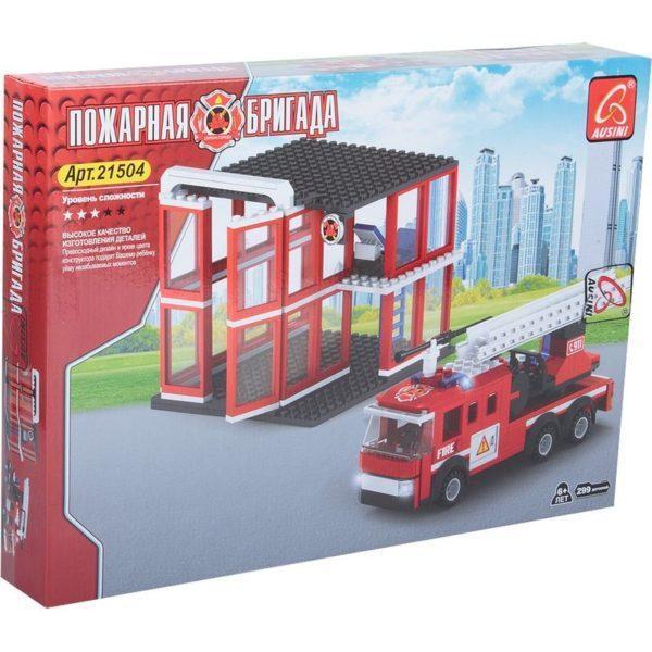 Конструктор Ausini «Пожарные» (299 деталей, арт. 21504)