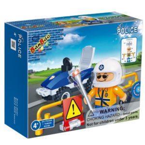 Конструктор BanBao «Полицейский на квадроцикле» (24 детали, арт. 8348)