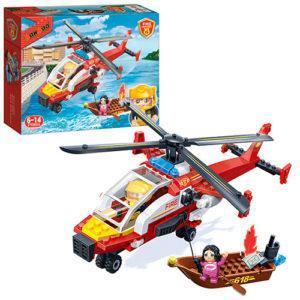 Конструктор BanBao «Пожарный вертолёт» (191 деталь, арт. 7107)