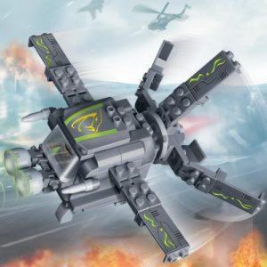 Конструктор Banbao «Военный самолёт с экипажем» (112 деталей, арт. 6216)