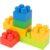 Конструктор блочный пластиковый «Цветные блоки» (42 детали)