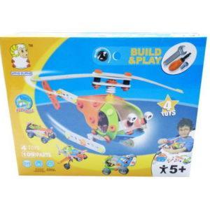 Конструктор Build&Play - Собери вертолет, 109 деталей