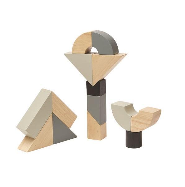 Конструктор деревянный Фигурные блоки, 8 деталей